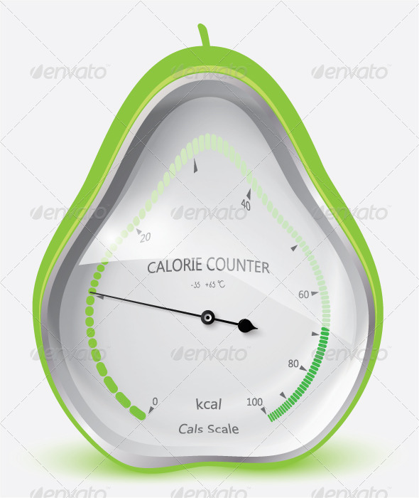 Calorie Counter Pear - Health/Medicine Conceptual