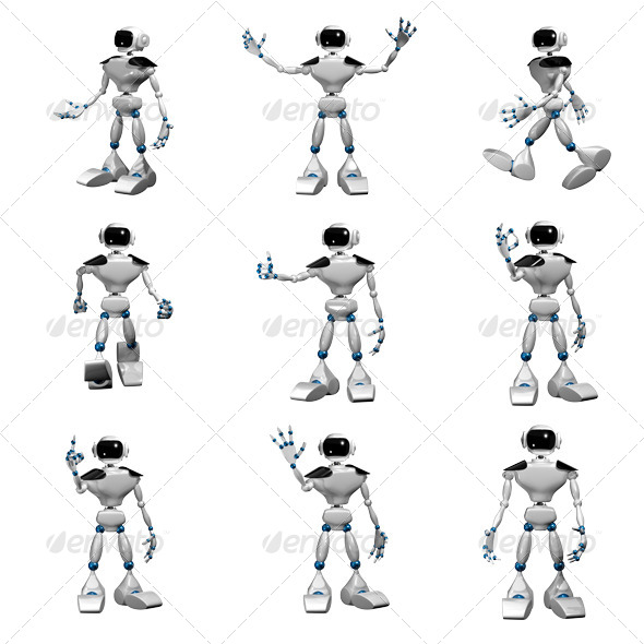 White Robot by brux   GraphicRiver likewise  on 4640x52911
