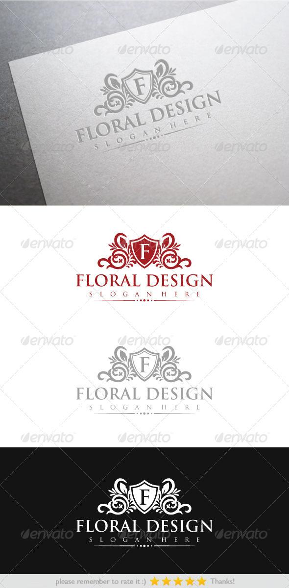 Floral Design - Crests Logo Templates