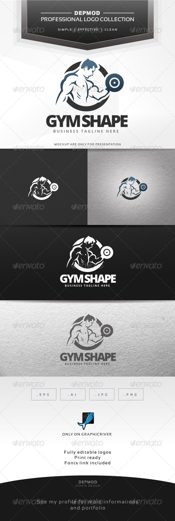 Gym Shape Logo - Humans Logo Templates