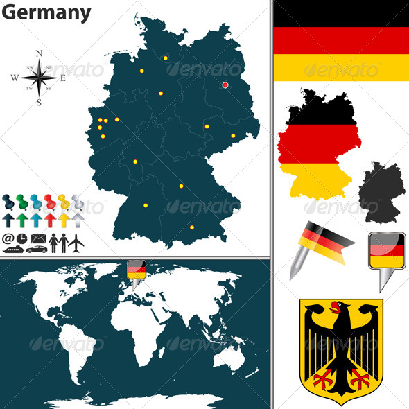 Map of Germany - Travel Conceptual