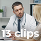 Collection of Hospital Situations - Pack of 13 Clips in 4K - VideoHive Item for Sale