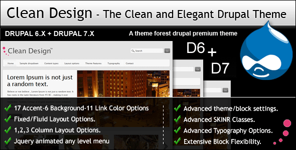 Free Download Clean Design - The Clean and Elegant Drupal Theme Nulled Latest Version