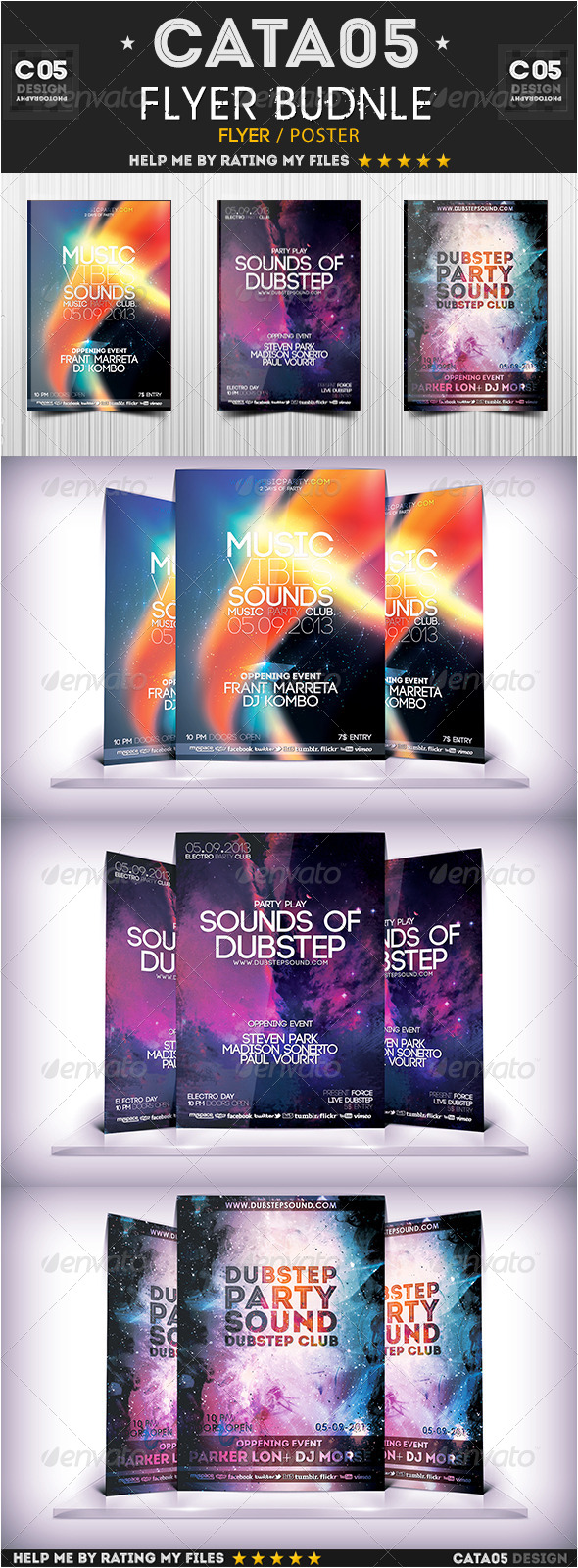 Flyer Bundle Pack  6 - Flyers Print Templates