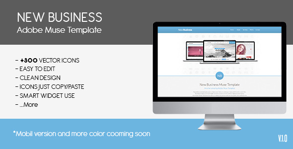Parallax New Busines | Muse Template