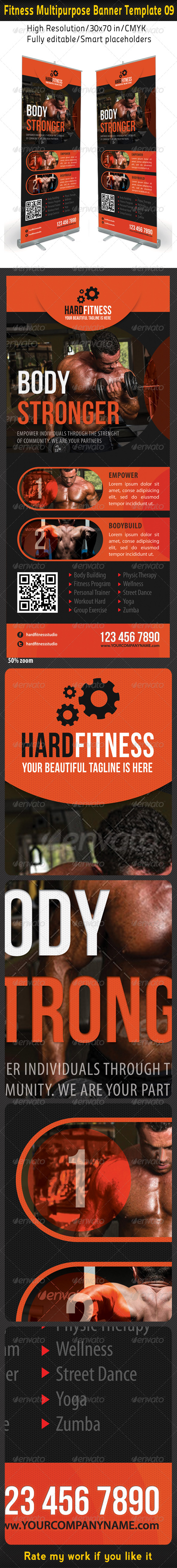 Fitness Multipurpose Banner Template 10 - Signage Print Templates