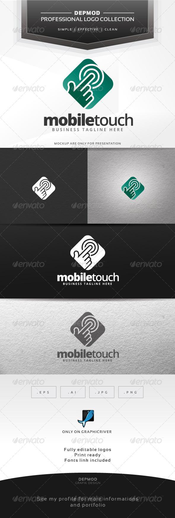 Mobile Touch Logo - Symbols Logo Templates