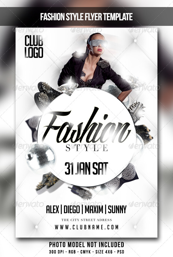 Fashion Style Flyer - Clubs & Parties Events
