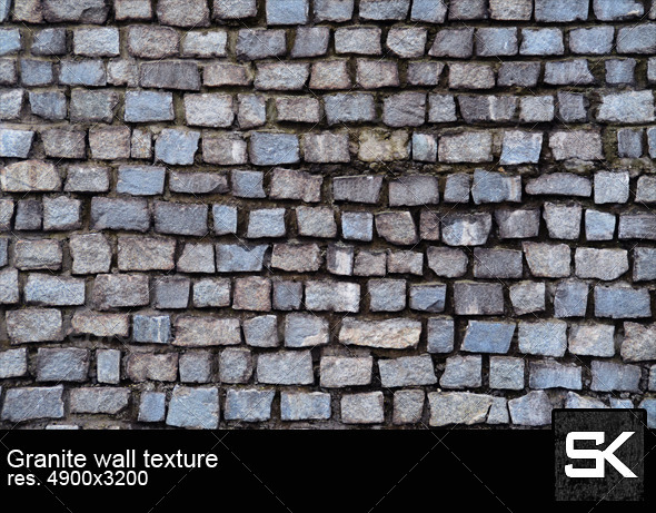 Wall Of Granite Stones - Stone Textures