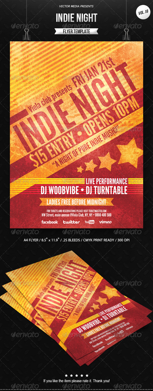 Indie Night - Flyer [Vol.18] - Clubs & Parties Events
