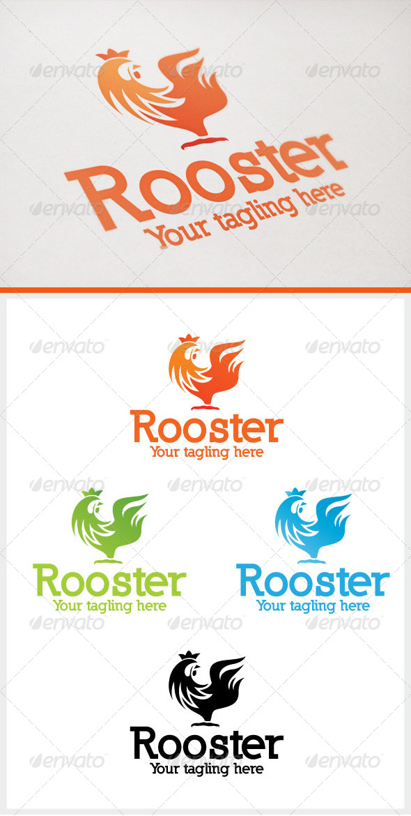 Rooster - Animals Logo Templates