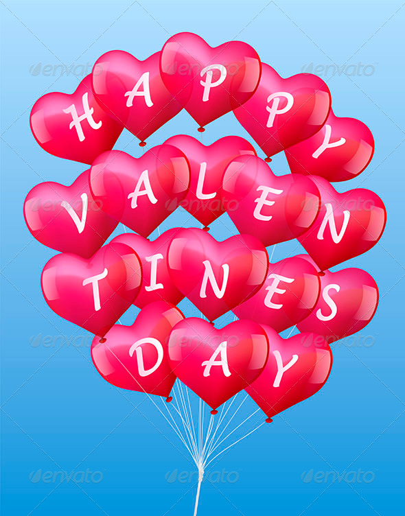Balloons Valentines - Valentines Seasons/Holidays