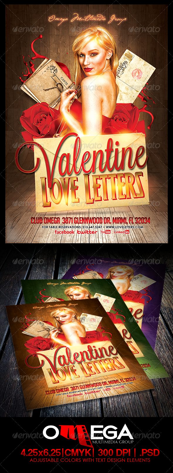 Valentine Love Letters - Events Flyers