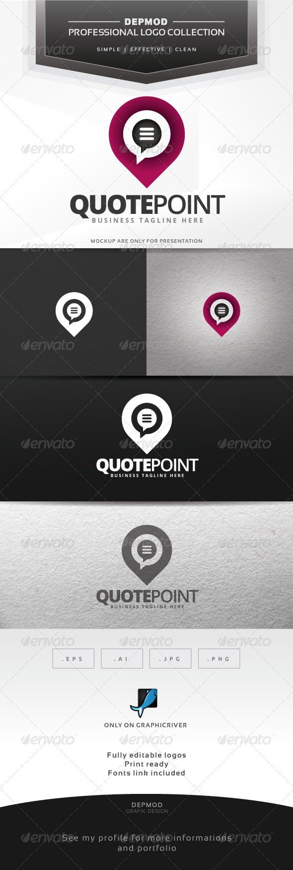 Quote Point Logo - Symbols Logo Templates