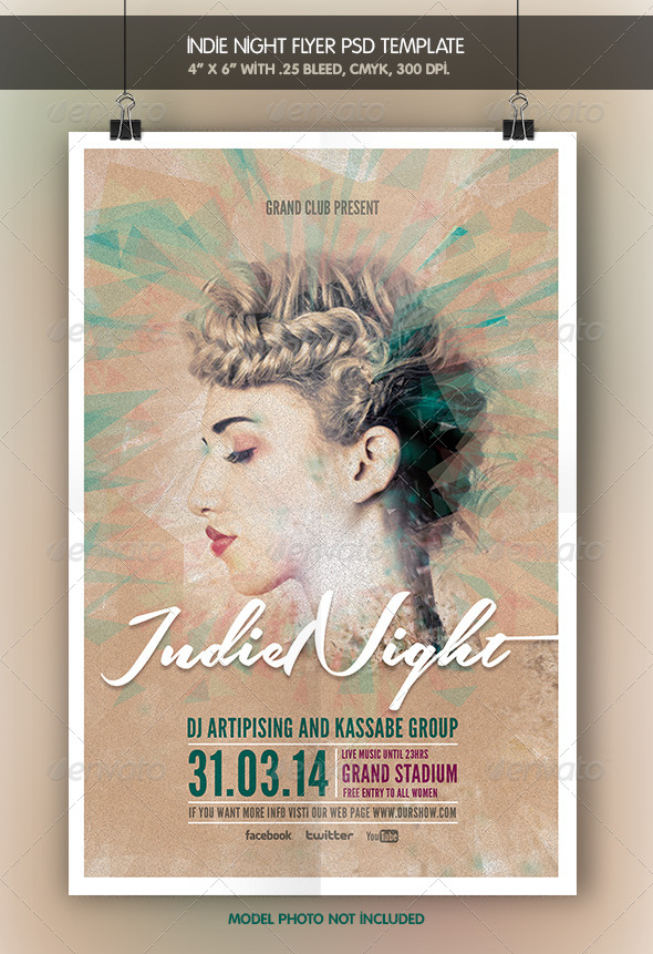 Indie Night | Flyer Template - Clubs & Parties Events