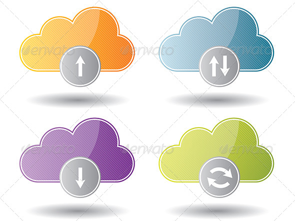 Cloud Computing Icons - Web Technology