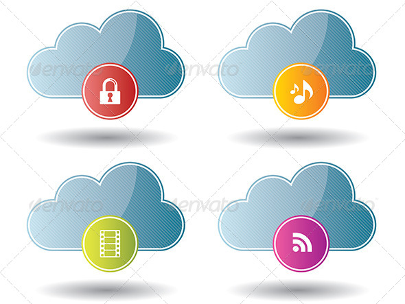 Cloud Computing Icons - Web Technology
