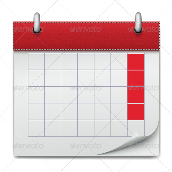 Calendar Icon Notebook Business of Planning - Web Elements Vectors