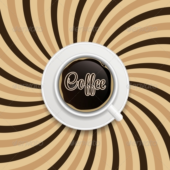 Coffee Abstract Hypnotic Background - Flowers & Plants Nature