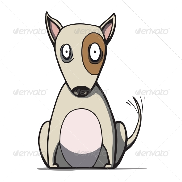Cartoon Bull Terrier Dog - Animals Characters