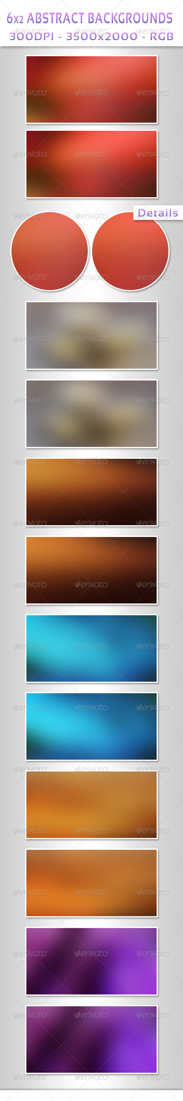 6x2 Abstract Backgrounds - Abstract Backgrounds