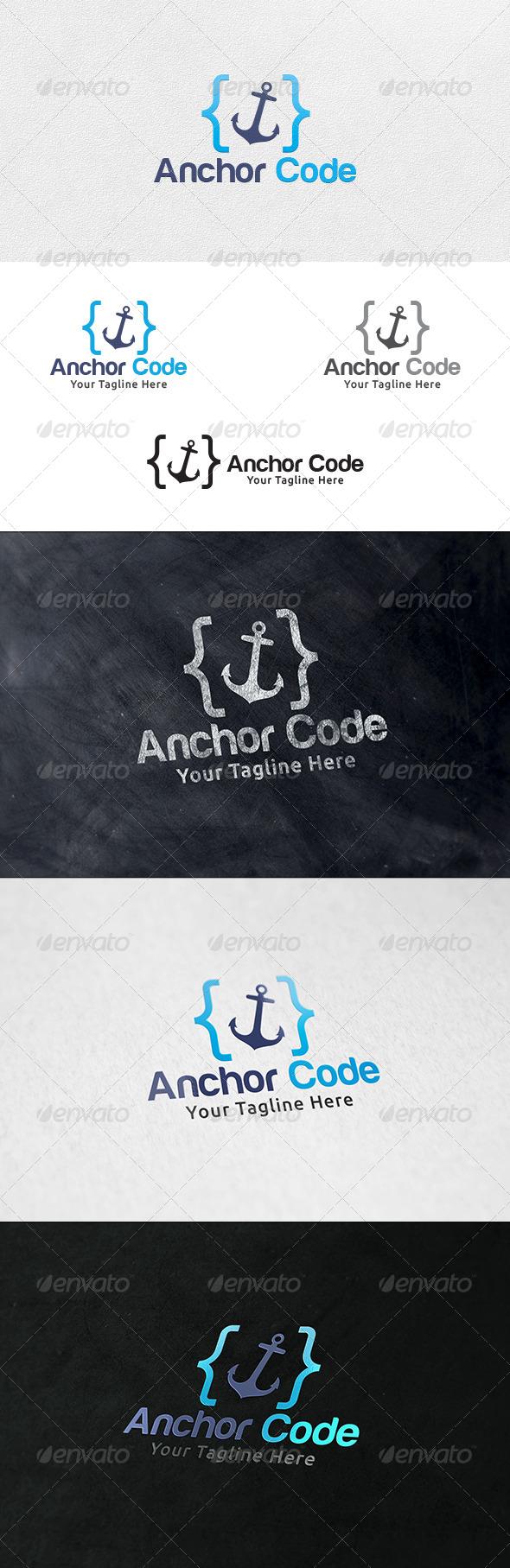 Anchor Code - Logo Template - Symbols Logo Templates