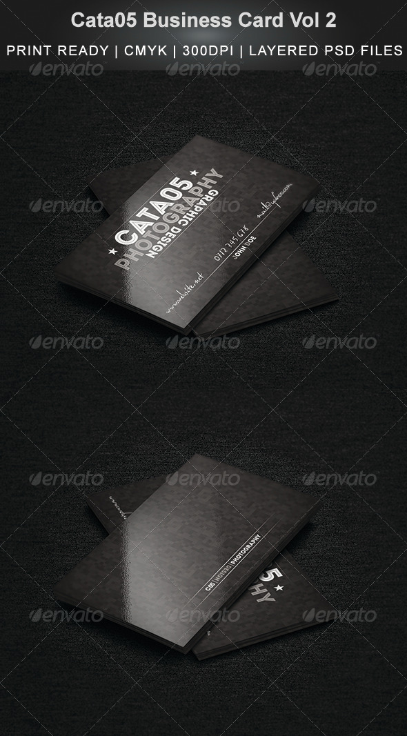 Cata05 Business Card Vol 2 - Business Cards Print Templates