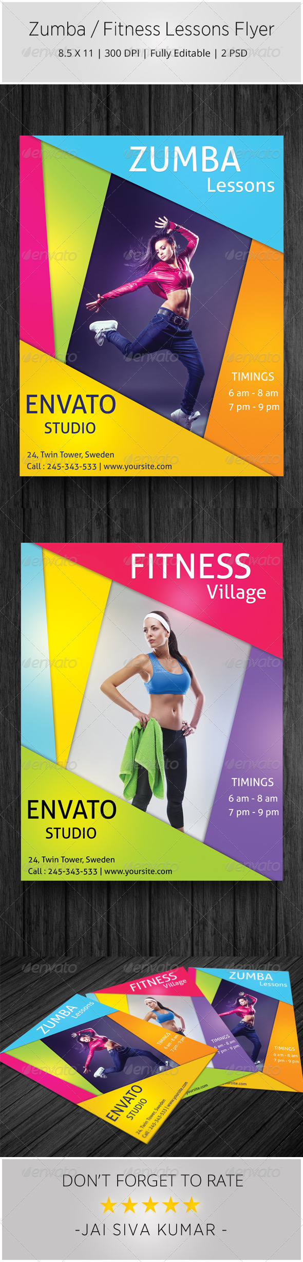 Zumba / Fitness Lessons Flyer - Sports Events