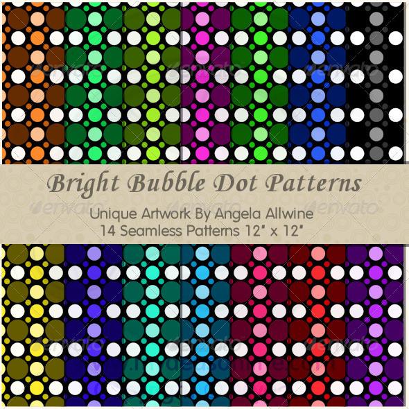Bright Bubble Dots Pattern Set - Patterns Backgrounds