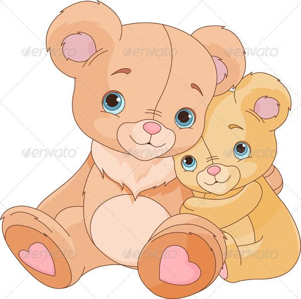 Hugging Bears   - Animals Characters