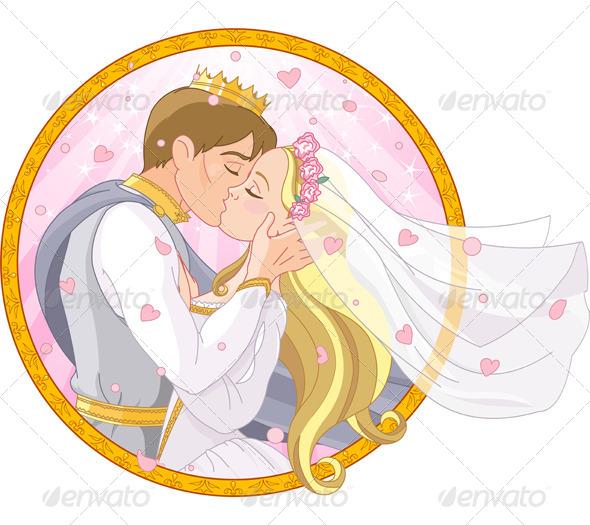 Royal Couple Wedding - People Characters