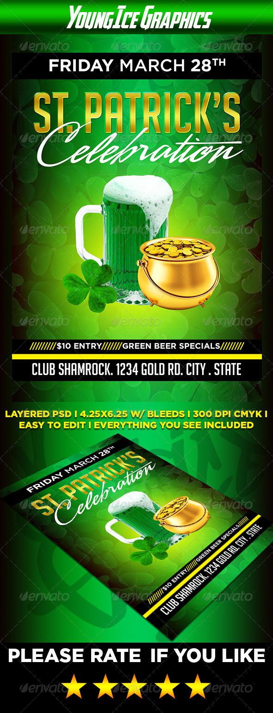 St Patricks Celebration Flyer - Clubs & Parties Events