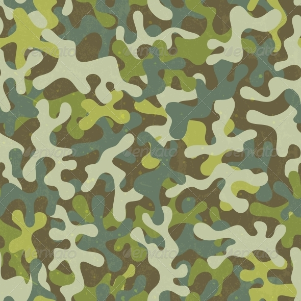 Camouflage Seamless Pattern - Patterns Decorative