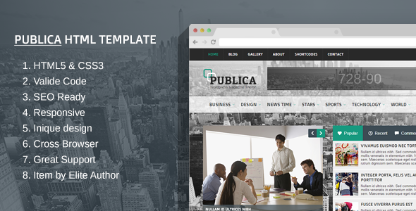 Publica Responsive HTML Template