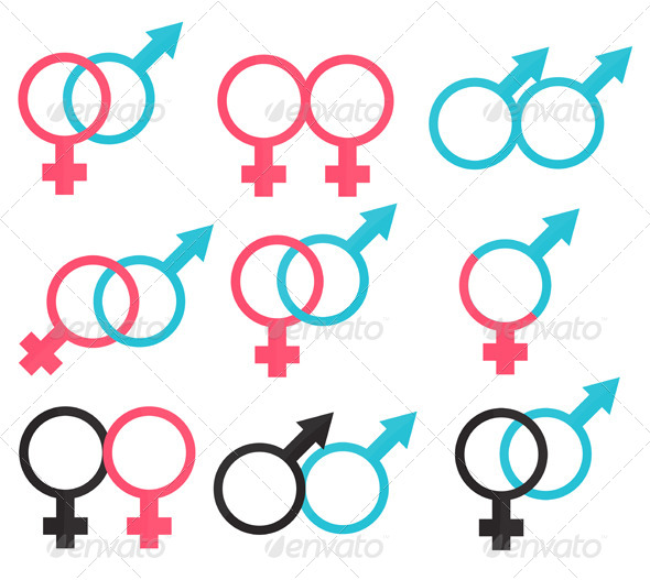 Relations Symbols Between Man and Woman - Decorative Symbols Decorative