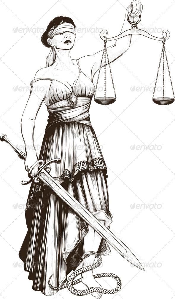 Symbol Of Justice Femida By Sharpner Graphicriver