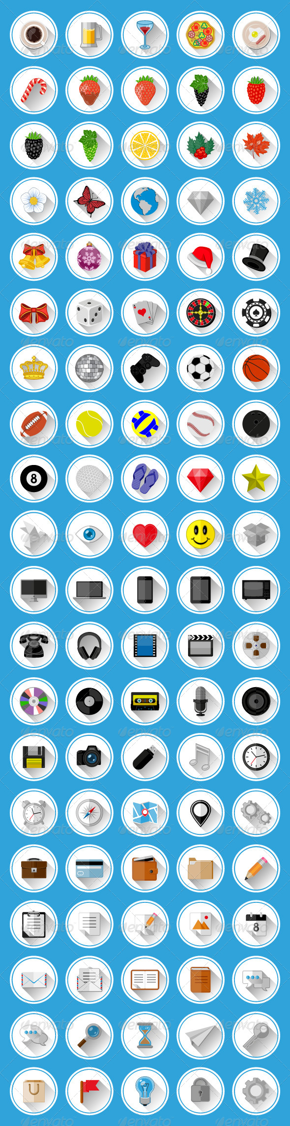 Flat Icons and Pictograms Set - Web Icons