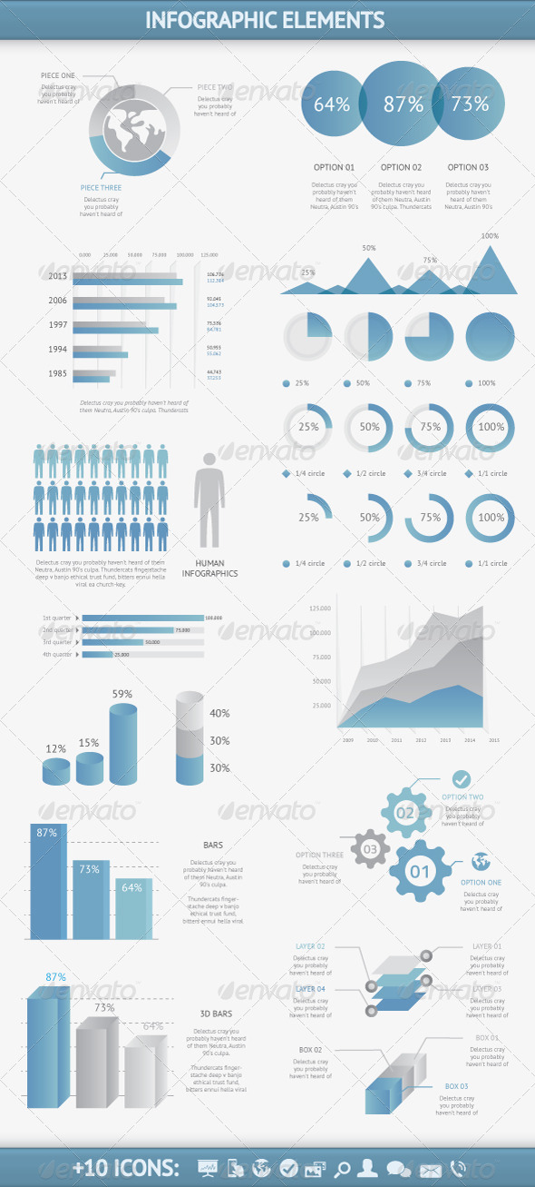 Infographic Elements Vector Set - Infographics