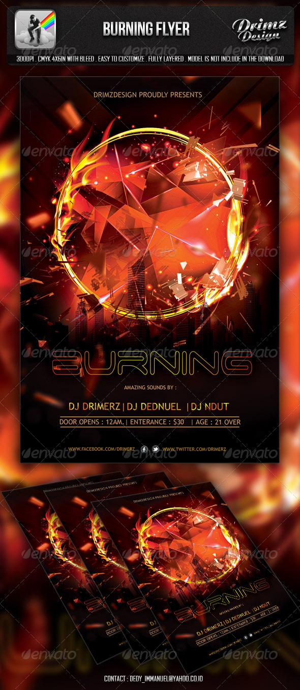 Burning Flyer - Events Flyers