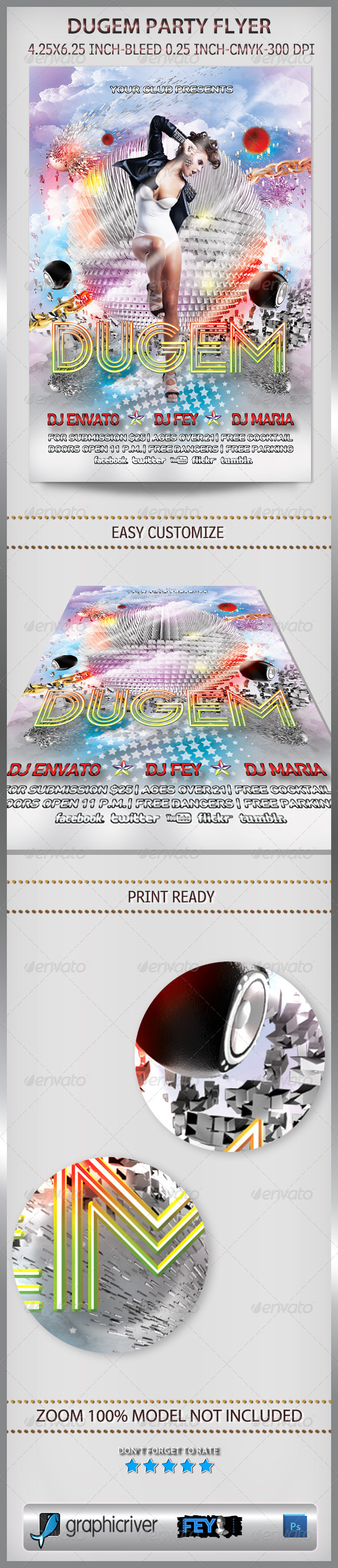 Dugem Party Flyer - Clubs & Parties Events