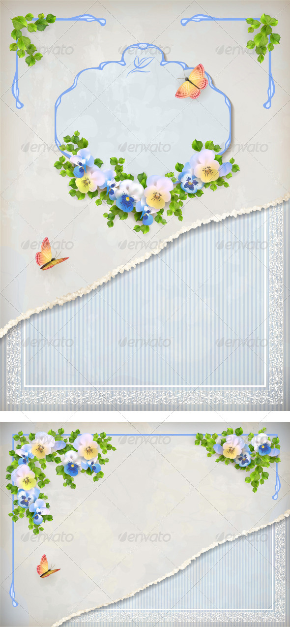 Romantic Flower Vintage Background - Weddings Seasons/Holidays