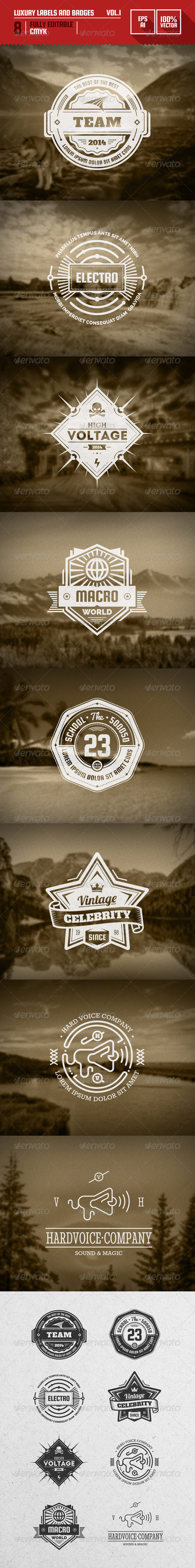 Luxury Labels and Badges Vol.1 - Badges & Stickers Web Elements