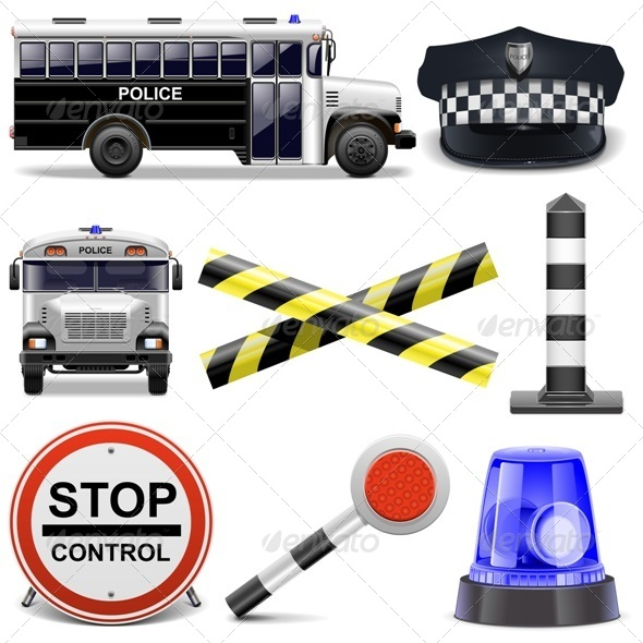 Vector Police Icons - Concepts Business