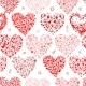 Seamless Pattern with Valentine Hearts - GraphicRiver Item for Sale