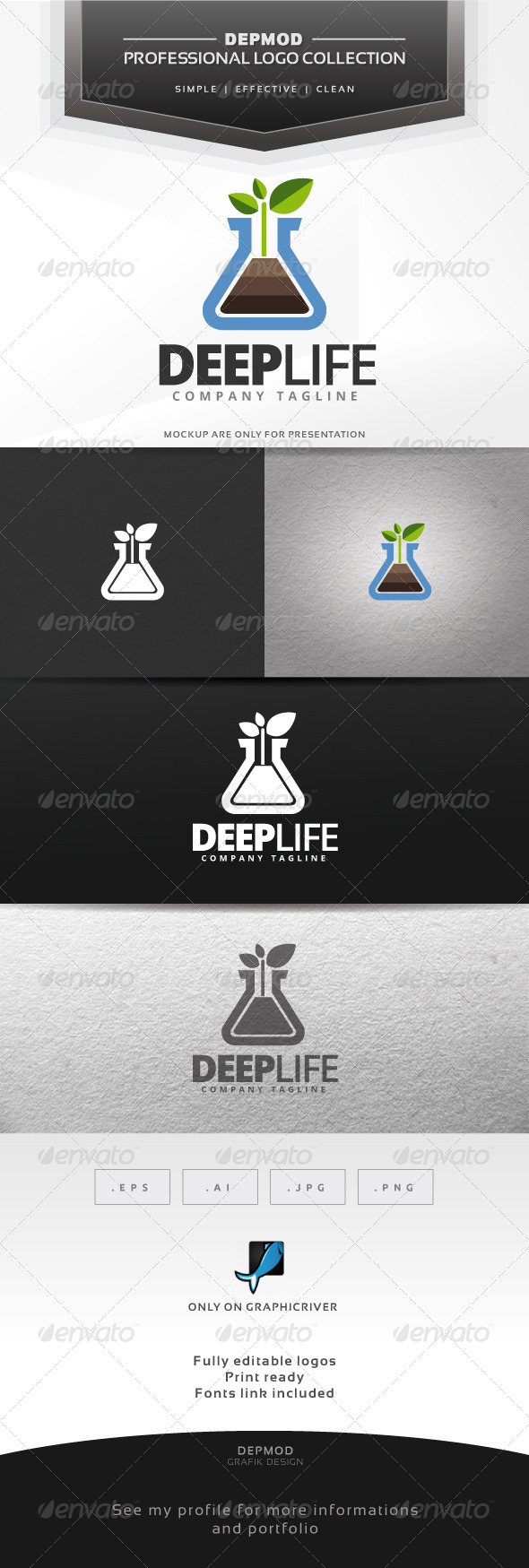 Deep Life Logo - Symbols Logo Templates