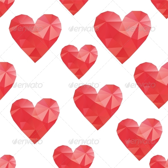 Polygonal Hearts - Valentines Seasons/Holidays