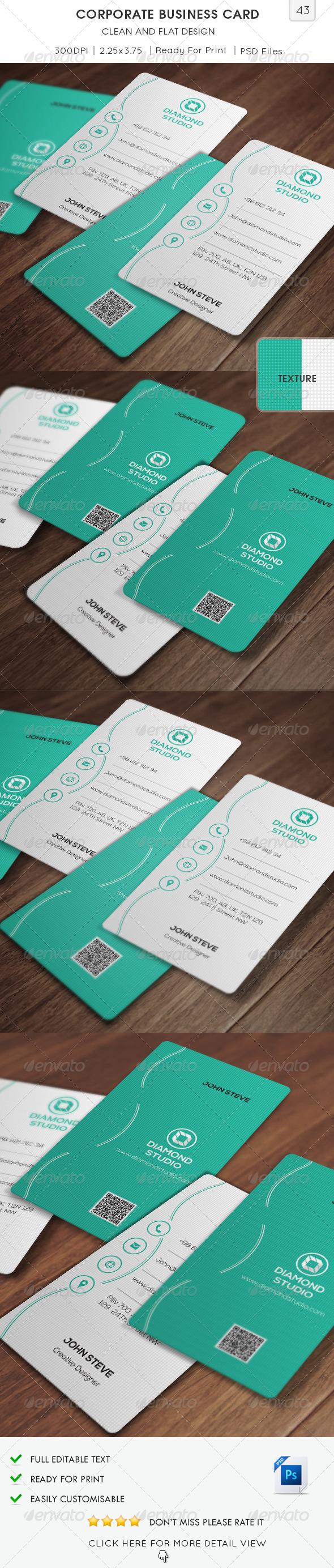 Corporate Business Card v43 - Corporate Business Cards