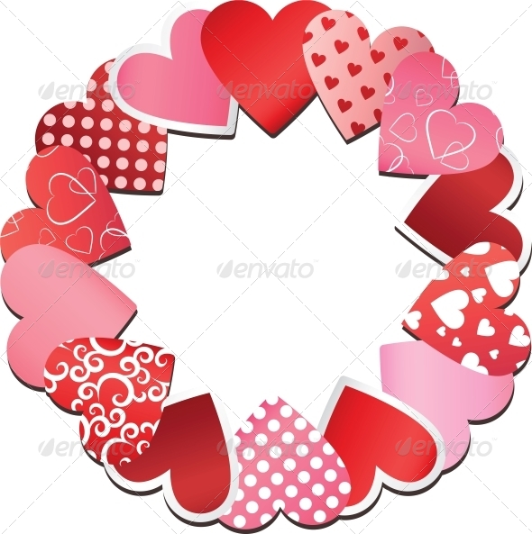 Hearts Frame - Valentines Seasons/Holidays
