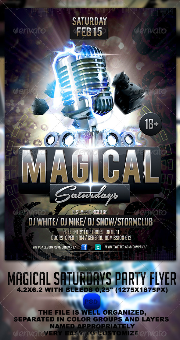 Magical Saturdays Party Flyer - Events Flyers