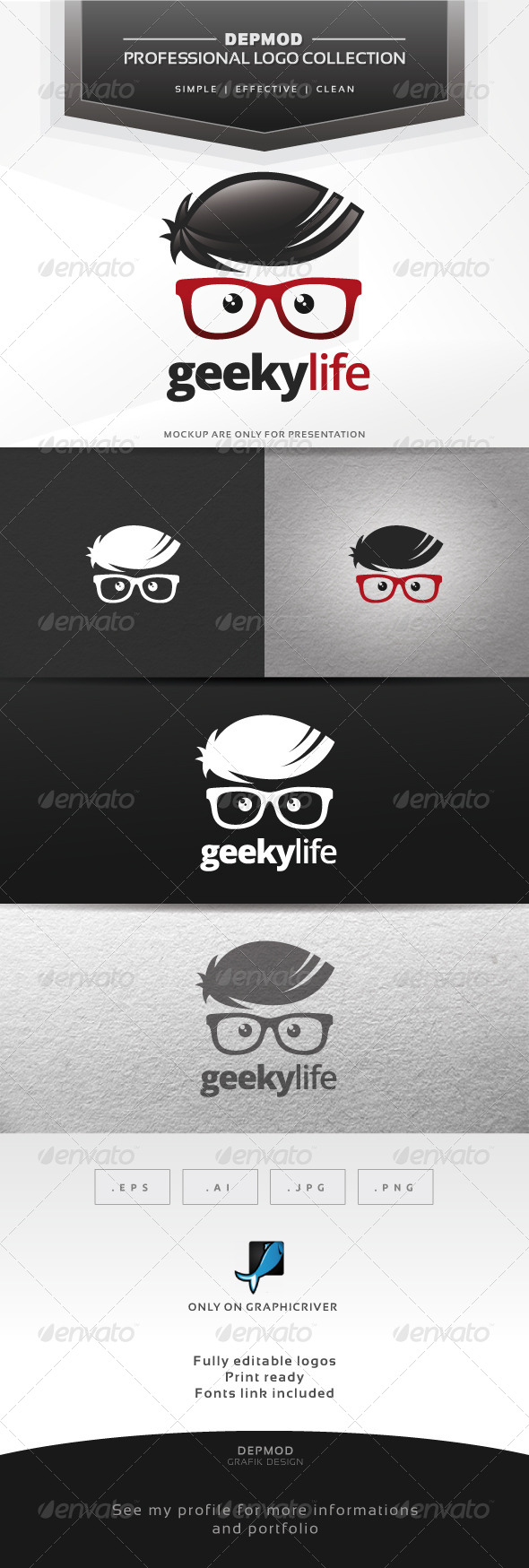 Geeky Life Logo - Humans Logo Templates